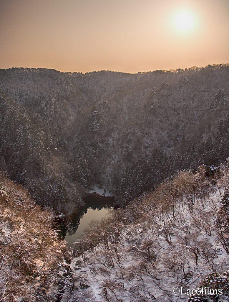 冬山ドローン撮影